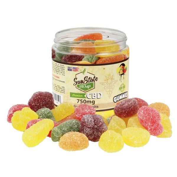 CBD Fruit Slices Sun State 750mg Jar Shop Online Scotland UK