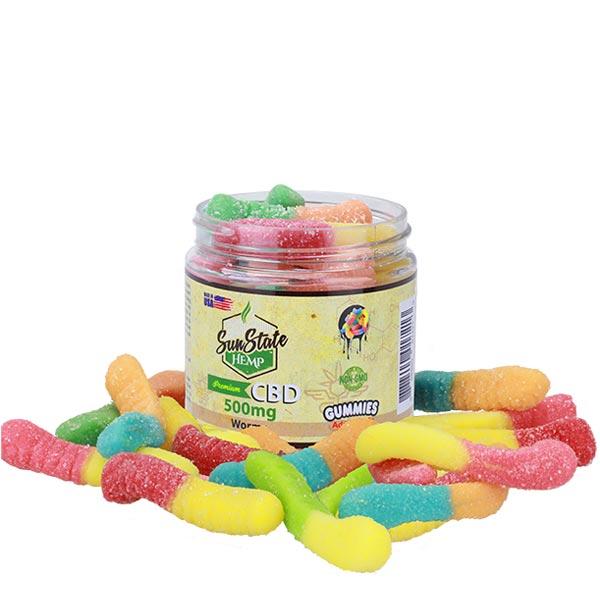CBD Gummy Worms Sun State Scotland