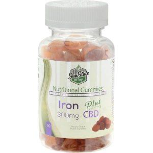 Iron Vitamin CBD Gummies Sun State 300mg Online Shop Scotland UK