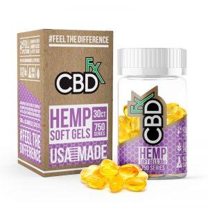CBDfx hemp soft gel capsules shop scotland uk