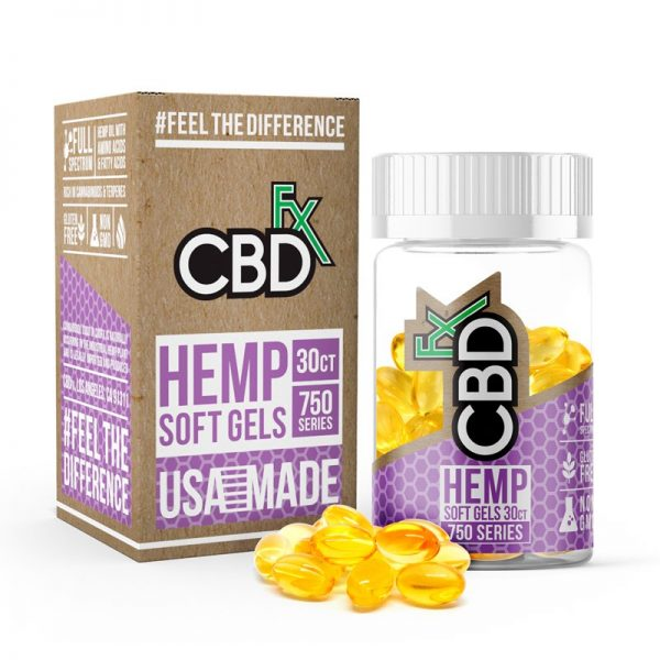 CBDfx hemp soft gel capsules shop scotland uk