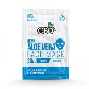 CBDfx aloe vera face mask 20mg online cad shop Glasgow Scotland uk