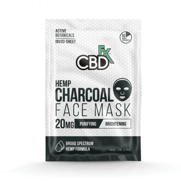 CBDfx charcoal face mask 20mg online cad shop Glasgow Scotland uk