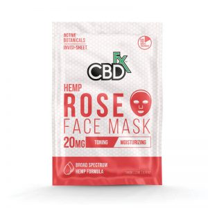 CBDfx rose face mask 20mg online cad shop Glasgow Scotland uk