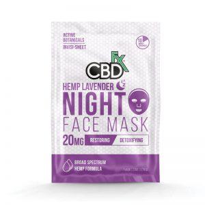 CBDfx lavender face mask 20mg online cad shop Glasgow Scotland uk