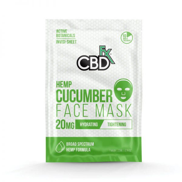 CBDfx cucumber face mask 20mg online cad shop Glasgow Scotland uk